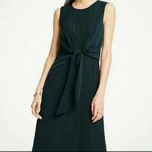 Ann Taylor Tie Front Midi Dress (NWT)